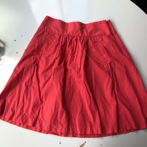 J. Crew Cotton A-Line Skirt with Pockets Sz 2